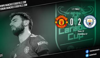Manchester United 0-2 Manchester City : United réussit le quatre à la suite