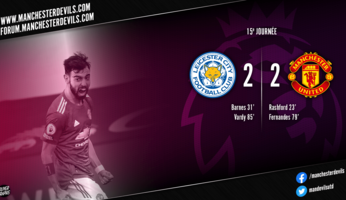 Leicester 2-2 Manchester United : forcément frustrant