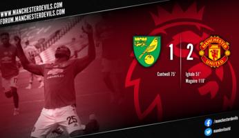 Report & Vidéos : Norwich City 1-2 Manchester United (a.p.)