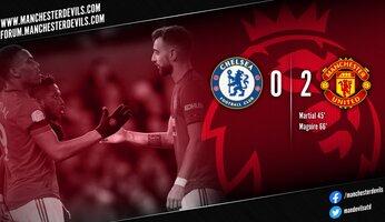 Chelsea 0-2 Manchester United : United varlope les Blues