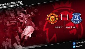 Report : Manchester United 1-1 Everton