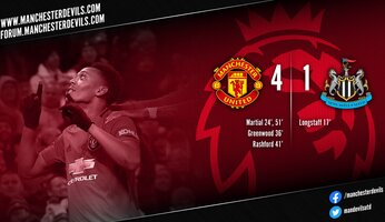 Report : Manchester United 4-1 Newcastle United
