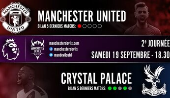 Preview : Manchester United - Crystal Palace