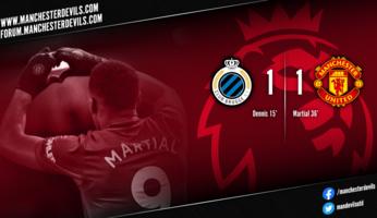 Club Bruges 1-1 Manchester United : United s'en sort bien