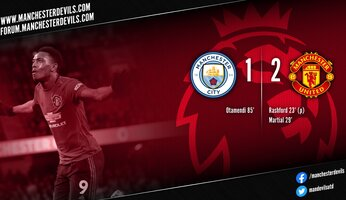 Report : Manchester City 1-2 Manchester United