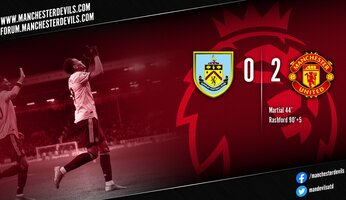 Report : Burnley 0-2 Manchester United