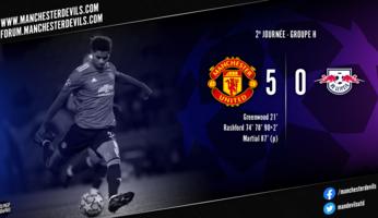 Manchester United 5-0 RB Leipzig : rodéo réussi pour les Red Devils