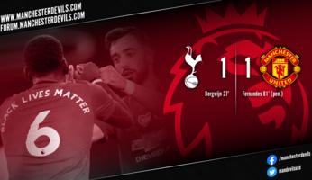 Report : Tottenham Hotspur 1-1 Manchester United