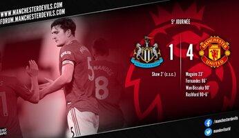 Newcastle 1-4 Manchester United : une victoire qui fait du bien