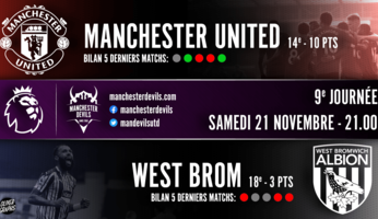 Preview : Manchester United - West Bromwich Albion