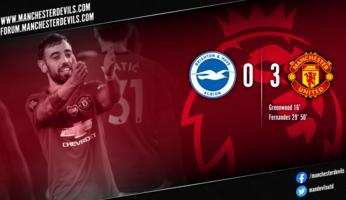 Report : Brighton 0-3 Manchester United