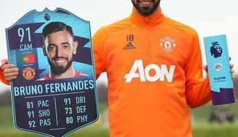 Bruno Fernandes élu meilleur joueur de Premier League en novembre
