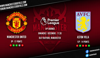Preview : Manchester United - Aston Villa