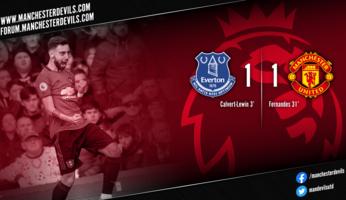 Everton 1-1 Manchester United : partage de points logique à Goodison Park