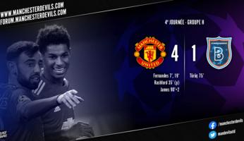 Manchester United 4-1 Istanbul Basaksehir : United garde la main
