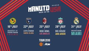 Tour 2018 : United jouera l'International Champions Cup