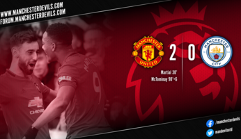 Manchester United 2-0 Manchester City : United, as de coeur