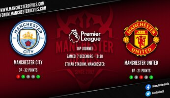 Preview : Manchester City - Manchester United