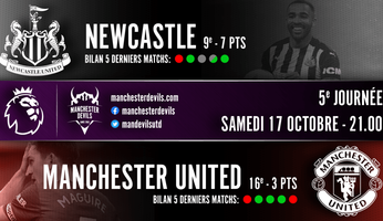Preview : Newcastle United - Manchester United