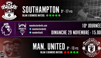 Preview : Southampton - Manchester United