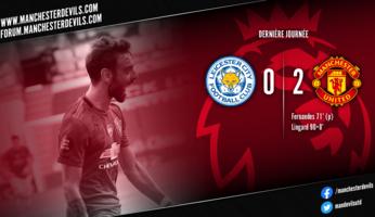Leicester City 0-2 Manchester United : United finit troisième !