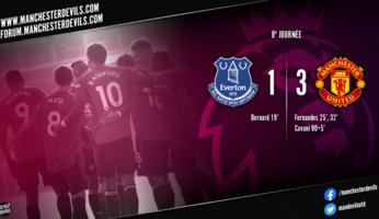 Everton 1-3 Manchester United : United réussit son déjeuner