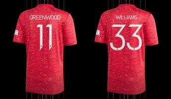 Nouveaux numéros de maillot pour Greenwood et Williams