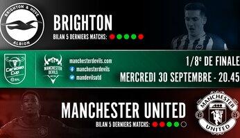 Preview : Brighton & Hove Albion - Manchester United