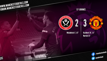 Sheffield United 2-3 Manchester United : pas encore rassurant