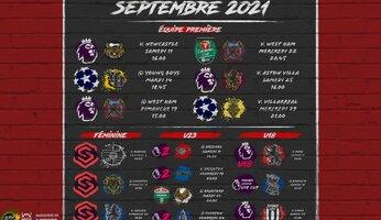 Programme de septembre 2021 : de retour en Ligue des Champions !