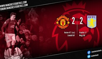 Report : Manchester United 2-2 Aston Villa