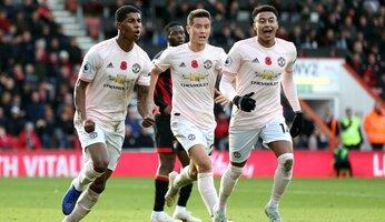 Bournemouth 1 Man Utd 2 : United à réaction