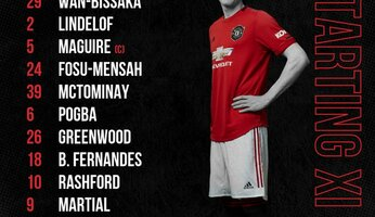 Compos  : Crystal Palace - Manchester United