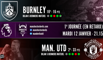 Preview : Burnley - Manchester United
