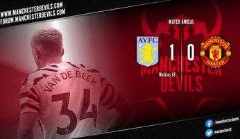 United s'incline en amical à Aston Villa