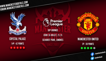 Preview : Crystal Palace - Manchester United