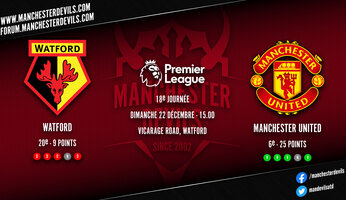 Preview : Watford - Manchester United