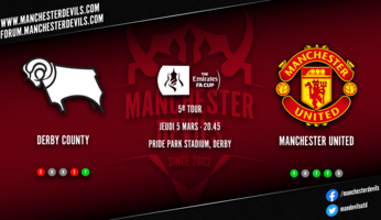 Preview express : Derby County - Manchester United