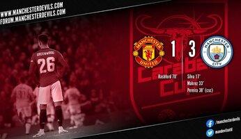 Manchester United 1-3 Manchester City : la finale s'éloigne pour United
