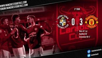 Luton Town 0-3 Manchester United : score flatteur pour United