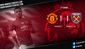 Manchester United 1-1 West Ham : United se tire une balle dans le pied
