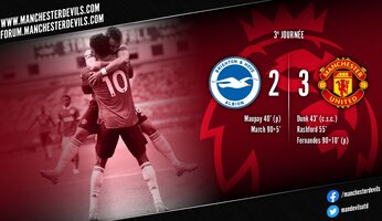 Brighton 2-3 Manchester United : le crossbar challenge pour Brighton, le hold-up pour United