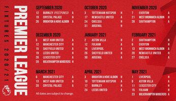 Les rencontres de Premier League 2020-2021 sont connues
