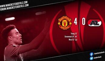 Report : Manchester United 4-0 AZ Alkmaar