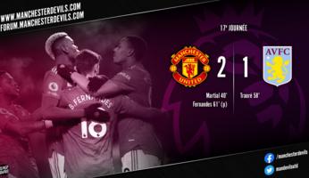 Manchester United 2-1 Aston Villa : United démarre bien l'année