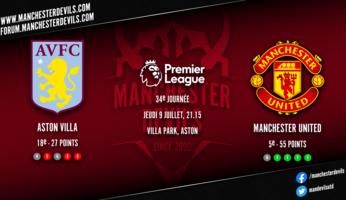 Preview : Aston Villa - Manchester United