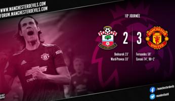 Southampton 2-3 Manchester United : El Matador achève les Saints